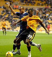 Photo: Ed Godden.<br /> Wolverhampton Wanderers v Southend United. Coca Cola Championship. 04/11/2006. Southend's Lewis Hunt (L) chases Rohan Ricketts (R).