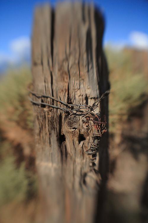 Distressed Wood Fencepost - North Owens Valley - Lensbaby
