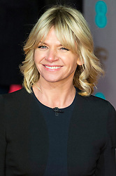 © Licensed to London News Pictures. 14/02/2016. London, UK. ZOE BALL arrives on the red carpet at the EE British Academy Film Awards 2016 Photo credit: Ray Tang/LNP