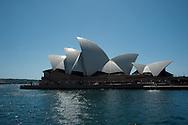 Beautiful Sydney opera house in the morning sunshine