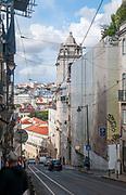 The 16th century Church of Santa Catarina (Rebuilt in 1757) in Largo do Calhariz, Lisbon, Portugal