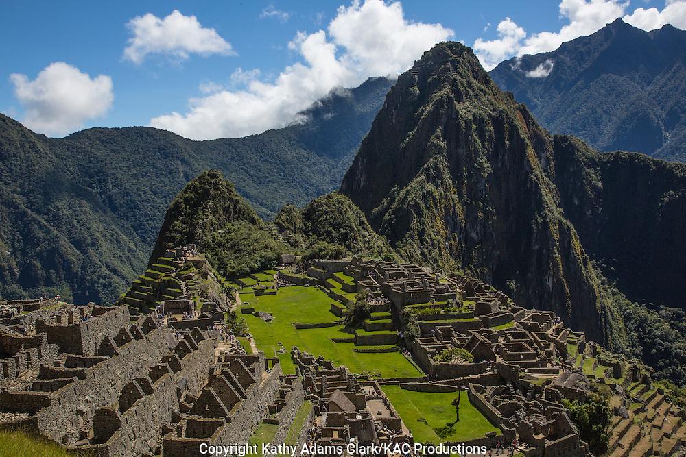 Machu Picchu, Lost City of the Incas, in the Andes Mountains, of Peru.