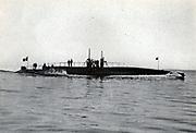 French submarine 'Palacois'.