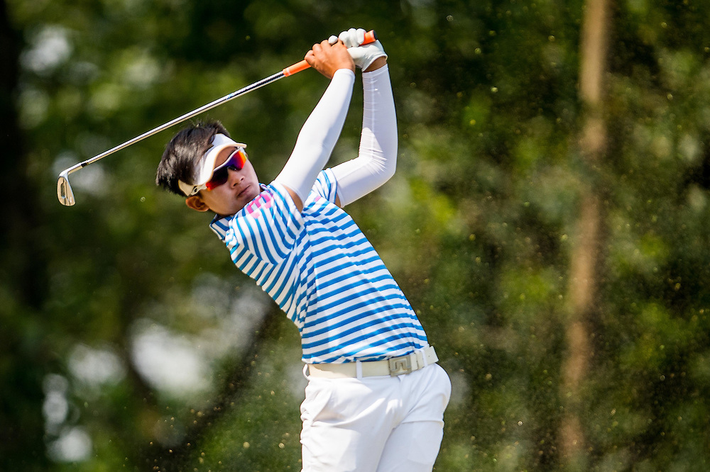 Atiruj Winaicharoenchai of Thailand in action during day two of the 10th Faldo Series Asia Grand Final at Faldo course on 03 March of 2016 in Shenzhen, China. Photo by Xaume Olleros.