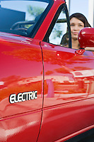 Close up of electric car