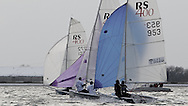ENGLAND, London, Queen Mary Sailing Club, January 9th 2010, Bloody Mary Pursuit Race, RS 400 Fleet.