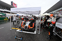 Nico Hulkenberg (GER) Sahara Force India F1 VJM07 on the grid.<br /> Japanese Grand Prix, Sunday 5th October 2014. Suzuka, Japan.