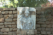 Statue of Isis, Egyptian goddess, Ashkelon National park, Israel<br /> Ashkelon is built upon the ruins of past civilizations. This was one of five Philistine city-states. The city also plays a role in biblical history as the place where Delilah cut Samson's hair to sap his strength. Ashkelon was also a great trading center because it lay along the Via Maris, the route linking Egypt with Syria and Mesopotamia. The city became a Christian city in the Byzantine period and was captured by the Muslims in 638 C.E. The Crusaders came next in 1153, but were defeated by Saladin. Richard the Lion Heart led the Crusaders back, but they were eventually driven out in 1280 by Sultan Baybars. The city was then abandoned until 1948 when the Jews of the new State of Israel began to rebuild it.