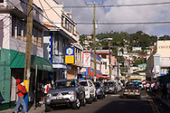 A street in Castries, St Lucia, The Windward Islands, The Caribbean