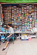 Streetside book stall. Yangon, Myanmar.