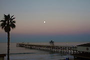 Moon over the Pier in San Clemente California