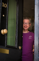 © Licensed to London News Pictures. 21/06/2019. London, UK.  Environment Secretary Michael Gove returns home after jogging near his west London home today. Yesterday Mr Gove was elimintated from the Conservative Party leadership election after receiving the fewest number of votes from MP's, leaving Boris Johnson and Jeremy Hunt as the final two contenders to battle it out to become leader of the Conservative Party and Prime Minister. Photo credit: Vickie Flores/LNP