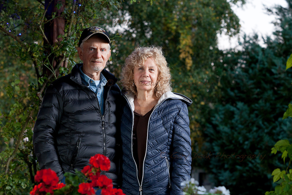 Charlie and Barbara Harris Whitfield. Findhorn, Moray<br /> <br /> 1st October 2015 <br /> <br /> Photograph by Gary Doak