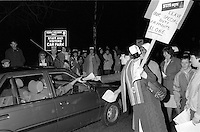 Night shift nurses and auxiliares at North Manchester General Hospital on strike over clinical regrading the first official nurses strike in Britain.