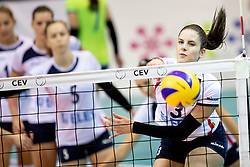 Ana Marija Vovk of Slovenia during volleyball match between National teams of Slovenia and Belgium in 4th Qualification Round of 2019 CEV Volleyball Women's European Championship, on August 25, 2018 in Sports hall Tabor, Maribor, Slovenia. Photo by Urban Urbanc / Sportida