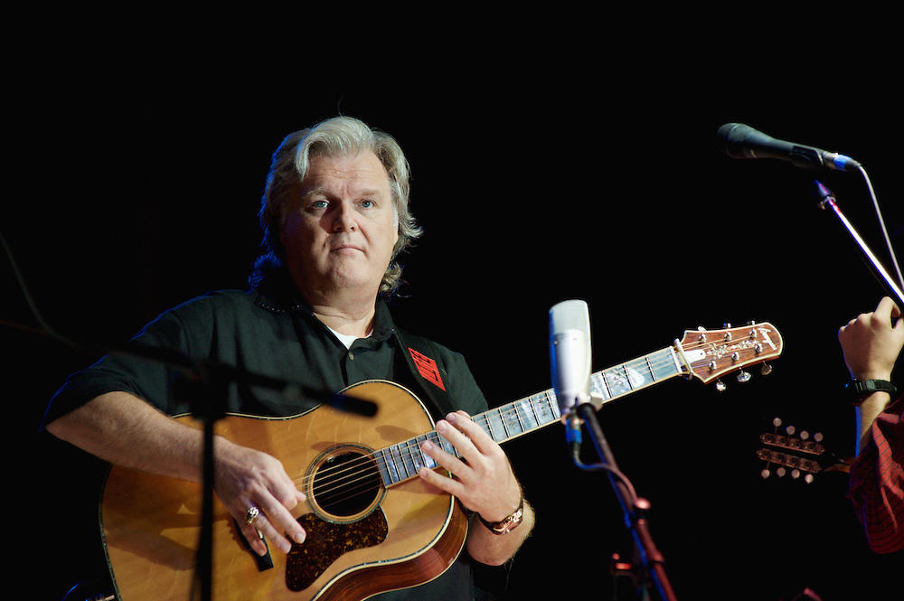 Grammy-winning bluegrass and country artist Ricky Skaggs performing with Kentucky Thunder on August 31, 2008, at the Columbia County Fair in Chatham, New York