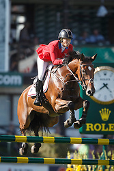 Madden Beezie, (USA), Simon<br /> BMO Nations Cup<br /> Spruce Meadows Masters - Calgary 2015<br /> © Hippo Foto - Dirk Caremans<br /> 13/09/15