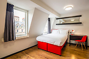 Double room in the Tune Hotel Liverpool, for Tune Hotels.