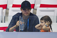 Budapest: Ashton Kutcher & Daughter at Swimming Champs - 23 July 2017