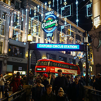 Oxford Street Christmas lights and Shop window