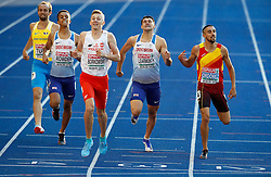 Great Britain's Daniel Rowden (left) and Guy Learmouth in action in the Men's 800m Semi-Final 1 during day four of the 2018 European Athletics Championships at the Olympic Stadium, Berlin. PRESS ASSOCIATION Photo. Picture date: Friday August 10, 2018. See PA story ATHLETICS European. Photo credit should read: Martin Rickett/PA Wire. RESTRICTIONS: Editorial use only, no commercial use without prior permission