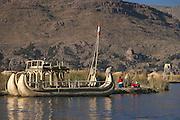 Uros Floating Islands (Las Islas Flotantes).Lake Titicaca.Peru