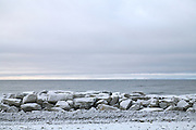 Kivalina, Alaska sea wall in 2009.