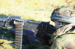 © London News Pictures. File picture dated 20/01/2011. Soldiers take part in the PSBC (platoon sergeants' battle course) qualifying-course in Brecon, south Wales in January 2011.  Rifles soldier Joshua Hoole died during Brecon training yesterday (Tues) on what was the hottest day of the year so far. Photo credit: Andrew Chittock/LNP