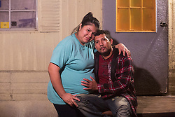 January 29, 2018 - Tampa, Florida, U.S. - LUIS BLANCO of Plant City and his wife LAUREN of Plant City who works as a construction worker poses for a portrait the night before he was detained during his appointment at the United States Department of Homeland Security. Blanco a father of six children and his wife Lauren who is pregnant with their seventh child was detained at the office after not having his humanitarian visa renewed under the President Donald Trump's administration. (Credit Image: © Octavio Jones/Tampa Bay Times via ZUMA Wire)