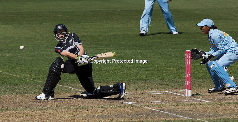 Sydney-March 17:   Haidee Tiffen batting during the match between New Zealand and India in the Super 6 stage of the ICC Women's World Cup Cricket tournament at North Sydney  Oval, Sydney, Australia on March 17, 2009. New Zealand beat India by 5 wickets. Photo by Tim Clayton.