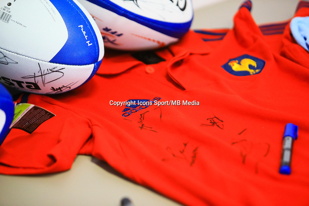Illustration Ballon et Maillot Signature de l'Equipe de France - 27.01.2015 - Entrainement Equipe de France - Canet en Roussillon -<br /> Photo : Nicolas Guyonnet / Icon Sport