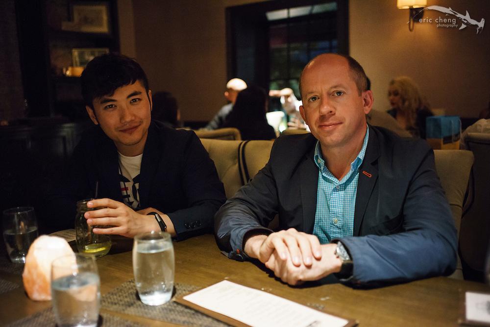 Dinner with Duncan Clark and Robin Wang  #egconf #eg8