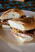 Prego steak sandwich at Anantara Bazaruto Island Resort