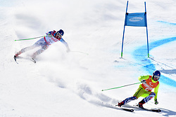 HARAUS Miroslav B2 SVK Guide: HUDIK Maros competing in ParaSkiAlpin, Para Alpine Skiing, Super G at PyeongChang2018 Winter Paralympic Games, South Korea.