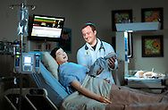 Seth Burhenn, a junior at the University of North Carolina at Greensboro, in the school's simulation lab, Thursday, February 4, 2016, in Greensboro, N.C. In addition to his nursing studies, he is also a member of the National Guard and enrolled in UNCG nursing department&rsquo;s Veteran Access Program. Post-graduation, Burhenn hopes to specialize in Oncology.<br /> <br /> JERRY WOLFORD and SCOTT MUTHERSBAUGH / Perfecta Visuals
