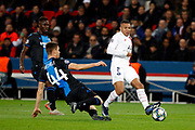 Kylian Mbappe of PSG in action vs Brandon Michele of Club Brugge during the UEFA Champions League, Group A football match between Paris Saint-Germain and Club Brugge on November 6, 2019 at Parc des Princes stadium in Paris, France - Photo Mehdi Taamallah / ProSportsImages / DPPI