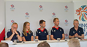 Caversham, Nr Reading, Berkshire.<br /> <br /> Top Table left to right. Mark ENGLAND, Helen GLOVER, Chrid BARTLEY, Alex GREGORY anf Sir David TANNER, Olympic Rowing Team Announcement  Press conference at the RRM. Henley.<br /> <br /> Thursday  09.06.2016<br /> <br /> [Mandatory Credit: Peter SPURRIER/Intersport Images]