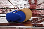 30.6.2012, Olympiastadion - Olympic Stadium, Helsinki, Finland..European Athletics Championship - Yleisurheilun EM-kisat..Hyppypaikkaa kuivataan vedestä kaatosateessa.
