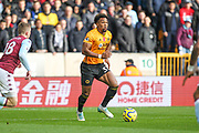 Adama Traore of Wolverhampton Wanderers during the Premier League match between Wolverhampton Wanderers and Aston Villa at Molineux, Wolverhampton, England on 10 November 2019.