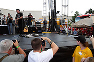 Billy Ray Cyrus takes the stage during the Spectacular Summer Cruise-In & Concert at the Miami Valley Centre Mall in Piqua, July 2, 2011