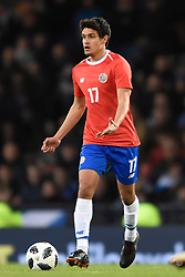Costa Rica's Yeltsin Tejeda in action during the international friendly match at Hampden Park, Glasgow