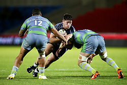 George Knott of Sale Sharks takes on Josh Matavesi of Newcastle Falcons - Mandatory by-line: Matt McNulty/JMP - 08/09/2017 - RUGBY - AJ Bell Stadium - Sale, England - Sale Sharks v Newcastle Falcons - Aviva Premiership