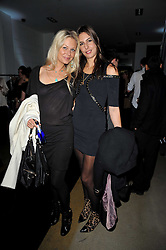 Left to right, ANNABEL WOLOWICZ and ZARA SIMON at a party to launch pop-up store Oxygen Boutique, 33 Duke of York Square, London SW3 on 8th February 2011.