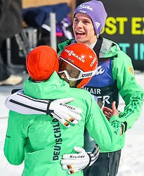 16.03.2017, Granasen, Trondheim, NOR, FIS Weltcup Ski Sprung, Raw Air, Trondheim, im Bild Richard Freitag (GER), Markus Eisenbichler (GER), Andreas Wellinger (GER) // Richard Freitag of Germany, Markus Eisenbichler of Germany, Andreas  Wellinger of Germany  //  during the 3rd Stage of the Raw Air Series of FIS Ski Jumping World Cup at the Granasen in Trondheim, Norway on 2017/03/16. EXPA Pictures © 2017, PhotoCredit: EXPA/ Tadeusz Mieczynski