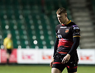 Dragons' Jack Dixon<br /> <br /> Photographer Simon King/Replay Images<br /> <br /> Guinness PRO14 Round 14 - Dragons v Glasgow Warriors - Friday 9th February 2018 - Rodney Parade - Newport<br /> <br /> World Copyright © Replay Images . All rights reserved. info@replayimages.co.uk - http://replayimages.co.uk