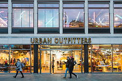 Urban Outfitters store on famous Kurfurstendamm shopping street in Berlin, Germany.