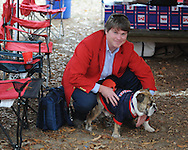 A Bulldog in the Grove before the Ole Miss vs. Louisiana Tech in Oxford, Miss. on Saturday, November 12, 2011. ..