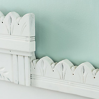 Salvage fragment and paint headboard