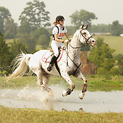 Sophie Laframboise (CAN) and Fleet Makani at the 2007 CN North American Junior and Young Riders' Championships held at the Virginia Horse Center in Lexington, Virginia