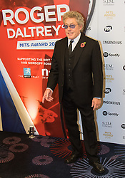 Grosvenor House Hotel, London, November 7th 2016. Luminaries from the music industry gather at the Grosvenor House Hotel for the Music Industry Awards, where this year The Who's Roger Daltrey CBE is honored with the 25th annual MITS award in support of Nordoff Robbins and The BRIT Trust. PICTURED: Roger Daltrey